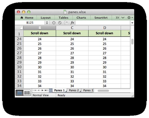 Example: Freeze Panes and Split Panes — XlsxWriter Documentation